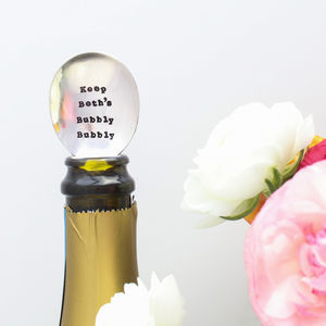 Personalised 'Bubbly Bubbly' Vintage Champagne Spoon - mr & mrs