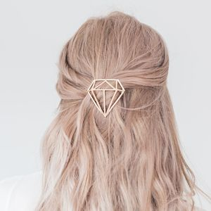 Gold Or Silver Diamond Hair Clip - head pieces
