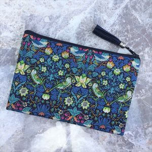 Liberty Print Strawberry Thief Make Up Bag