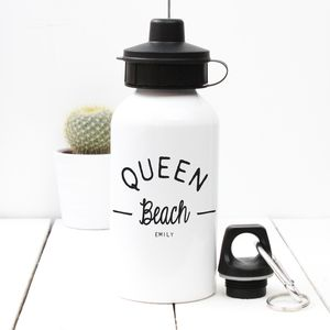 Personalised 'Queen Beach' Water Bottle