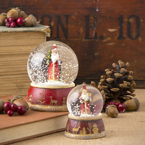 Traditional Santa Snow Globe - christmas home accessories
