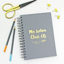 Personalised Teacher's Foiled Notebook