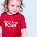 Personalised Boss T Shirt