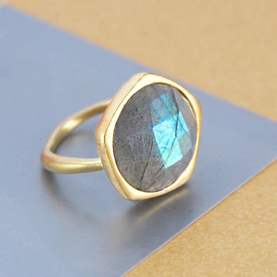 genuine labradorite gold gemstone ring by embers gemstone