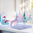 Christmas Unicorn Fold Out Card