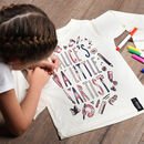 Personalised Colour In T Shirt With Fabric Pens