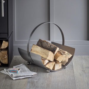 Round Log Carrier - log baskets