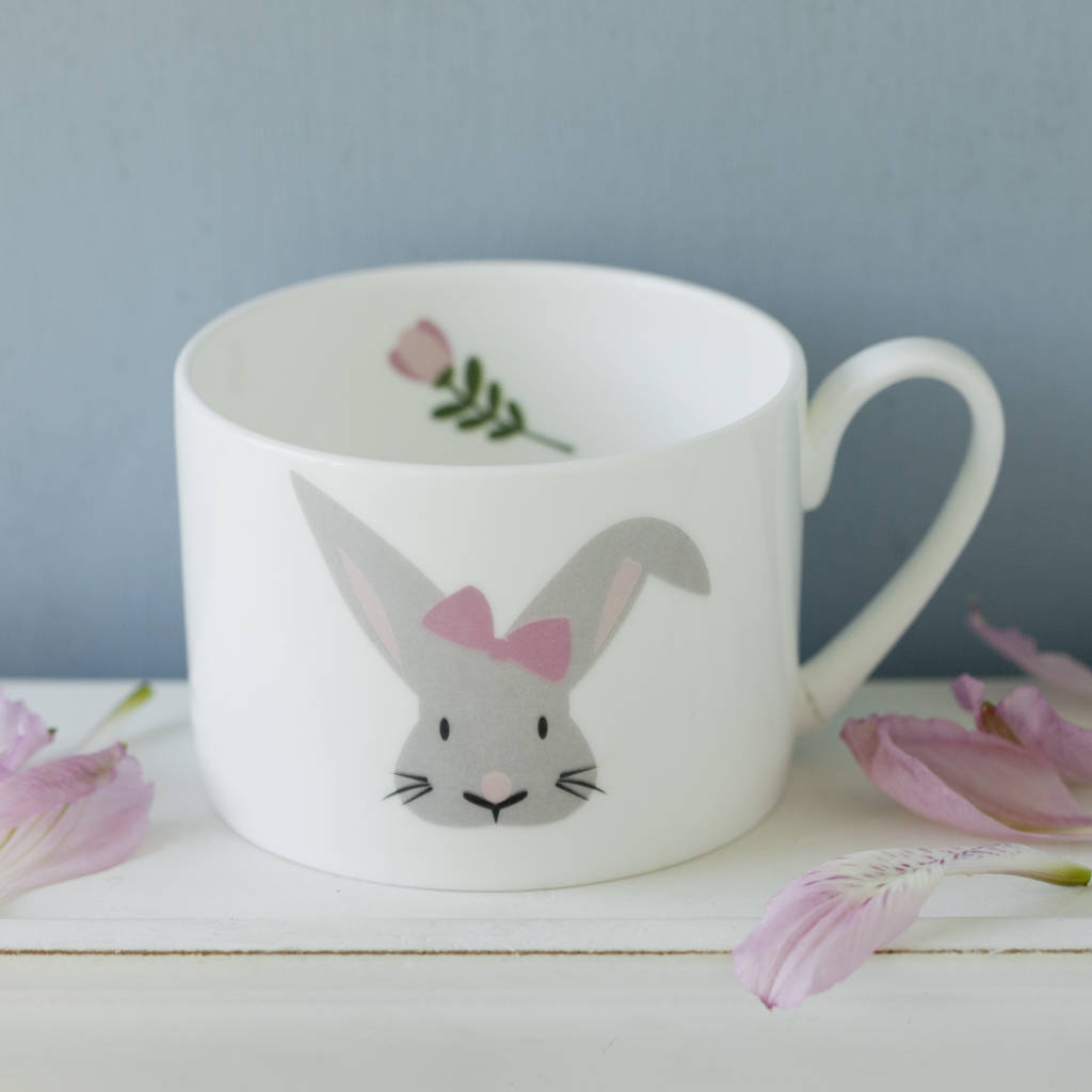 Bunny Personalised Hand Decorated Child's China