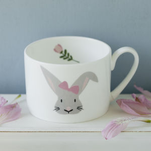 Bunny Personalised Hand Decorated Child's China - children's tableware