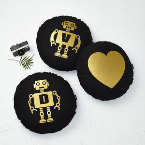 Set Of Three Robot Cushions - living room