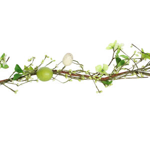 Floral Pussy Willow And Egg Easter Garland