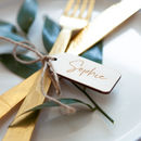 Personalised Wooden Luggage Tag Place Setting