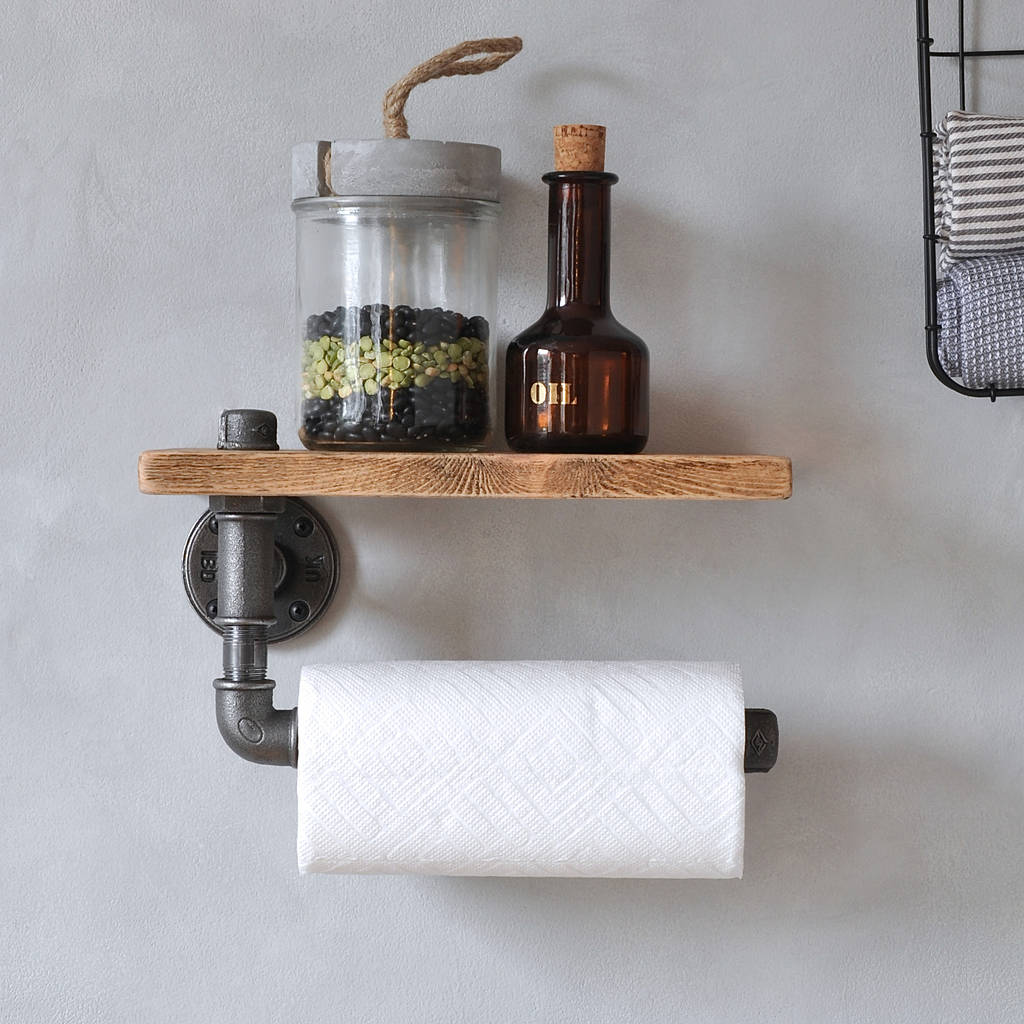 Rustic Bathroom Design Ideas Industrial Kitchen Towel Holder And Shelf By Industrial By