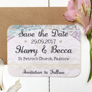 Travel Inspired Wedding Save The Date Card