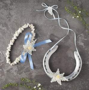 Charlotte Garter And Wedding Horseshoe Gift Set - wedding favours