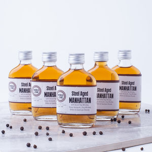 Five Mini Manhattan Whisky Cocktails - whiskey