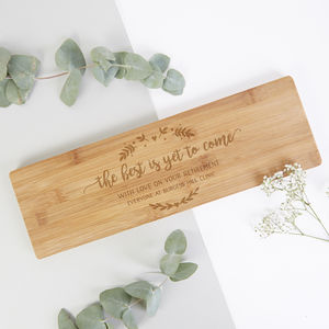 Retirement Gift Chopping Board
