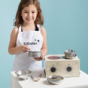 Children's Toy Kitchen And Personalised Apron