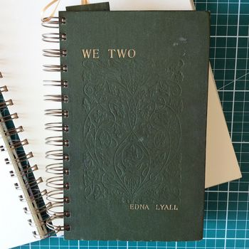 'We Two' Upcycled Notebook