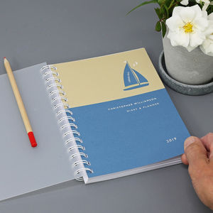 Personalised 2019 Diary For Boat Lovers
