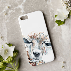 Inky Sheep Phone Case - womens