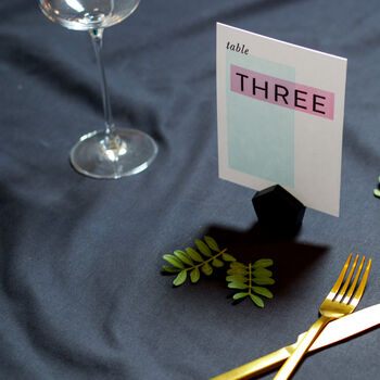Geometric Wedding Table Numbers 'The Caroline'