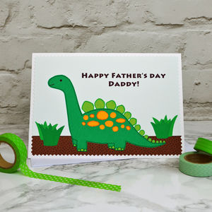'Dinosaur' Personalised Father's Day Card