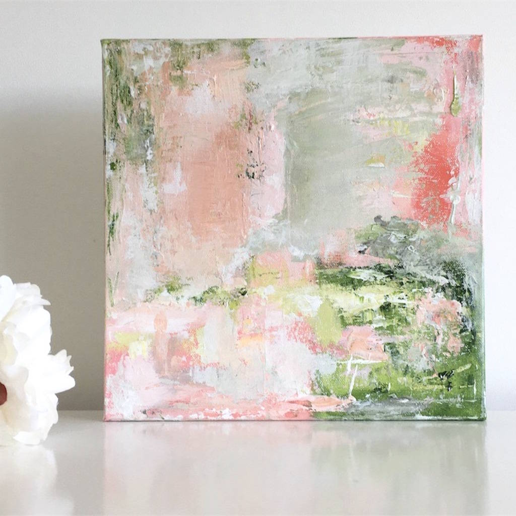 Pink And Green Wall Art