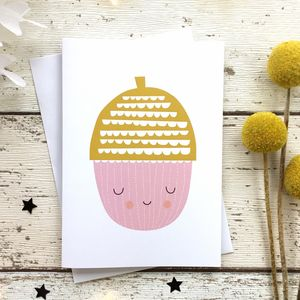 Oakley Acorn Greeting Card