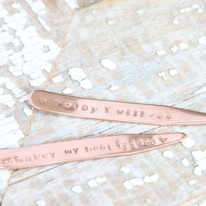 Copper Wedding Collar Stiffeners