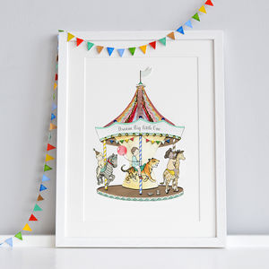 Personalised Carousel Nursery Print