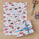 Flamingos And Hedgehogs Croquet Gift Wrap Four Sheets
