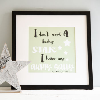 A Family Lucky Star Print