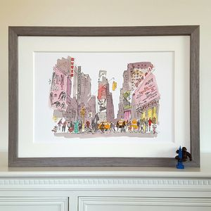 New York, Times Square, Limited Edition Print - maps & locations