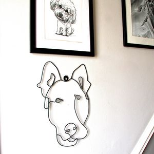 Dog Wire Wall Art