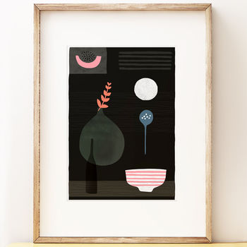 Modern Still Life Art Print 'Night Hours Two'