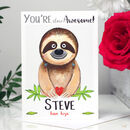Personalised 'You're Awesome' Sloth Card