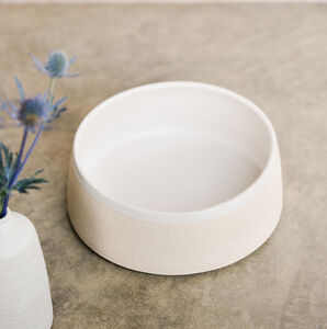 Stoneware Food And Water Dog Bowl