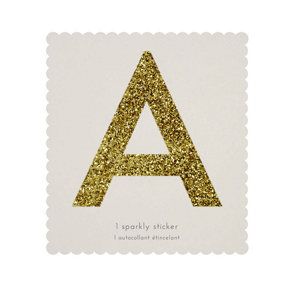Gold Glitter Letter And Number Stickers