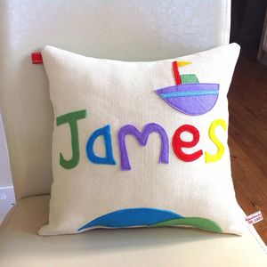 Personalised Boy's Handmade Birthday Cushion - decorative accessories