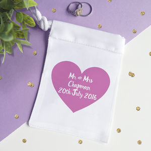 Personalised Wedding Ring Bag - wedding jewellery