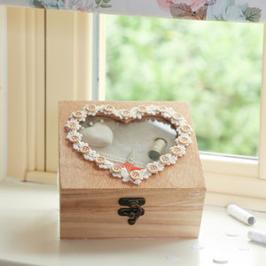 Personalised Heart Sewing Box - sewing boxes