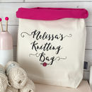 Personalised Large Knitting Bag