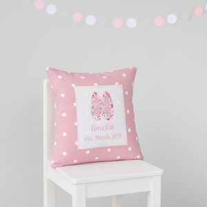 Personalised Ballet Shoes Cushion - personalised cushions