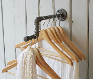 Industrial Single Clothes Rail - storage & organisers