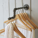 Industrial Single Clothes Rail
