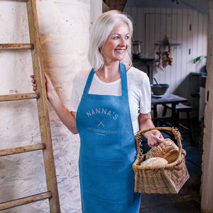 Personalised Artisan Linen Apron - gifts for her sale