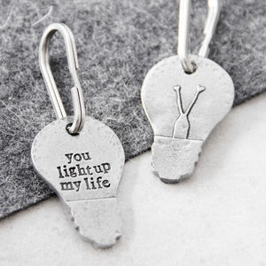'You Light Up My Life' Keyring - best valentine's gifts for him