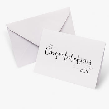 Congratulations A5 Gift Card