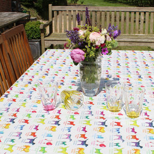 Dogs Tablecloth - dining room